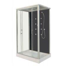 Cabina box doccia idromassaggio 90x120 8 getti porte scorrevoli soffione|sa