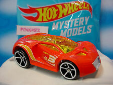 2014 Mystery Models #10 ULTRA RAGE∞light red; 3; white oh5 ∞Hot Wheels + Sticker