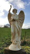 Protection Angel & Baby Cream/Ivory Figurine/Ornament/Cast Resign