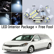 16x Bulb Car LED Interior Lights Package kit For Nissan Quest 2004 2009 White NQ