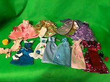 Large Lot of Barbie size doll clothes Princess dresses, shoes and more