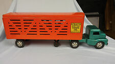 1950's Structo Cattle Truck and Trailer Vintage Toy Pressed Steel Nice Condition