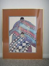 """Amado Maurilio Pena 1982 Signed Print Art """"SIN TITULO"""" Untitled Framed & Matted"""