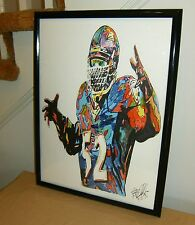 Ray Lewis, The Ravens, Baltimore, Middle Linebacker, Football,18x24 POSTER w/COA