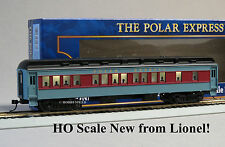 LIONEL HO SCALE POLAR EXPRESS COACH CAR passenger train lighted 6-58024 NEW
