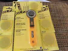 OLFA ORIGINAL ROTARY CUTTER & 5 (Five) 45mm BLADES. $22.50 FREE SHIP