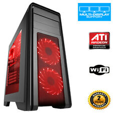 Quadcore PC 8GB 1TB Desktop Gaming PC Computer  ULTRA FAST ATI Graphics wifi p50