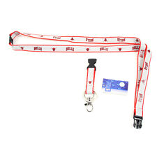 Chicago Bulls Ultra Slim Lanyard, Grey with Red Trim