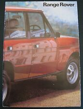 EARLY RANGE ROVER SALES BROCHURE  v8 3-dr land rover Mint