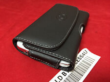 "HORIZONTAL BLACK LEATHER CASE FOR IPHONE 6 4.7"" CARRYING POUCH BELT CLIP HOLSTER"