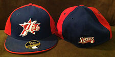 "Philadelphia 76ers New Era 59FIFTY NBA Fitted Hat ""76 Sixers"" Blue/Red 6 3/4"