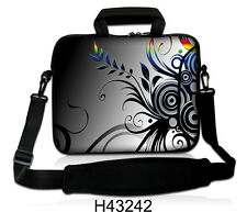 "15""-15.6""LAPTOP SLEEVE WITH HANDLE STRAP CARRY CASE BAG 4 ALL LAPTOPS *GC FLOWER"