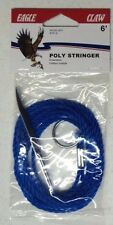 6 Ft Poly Fishing Stringers, THREE, Blue, Eagle Claw, for Small Fish 04300-001
