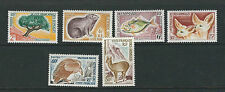 SOMALI COAST 1962 ANIMALS TREE BIRDS (Sc 287-92 complete set) VF MLH *read desc*