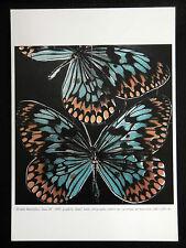 """DONALD SULTAN carton Gal.TEMPLON 97 """" DOUBLE BUTTERFLIES """" POP ART Papillons"""