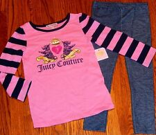 JUICY COUTURE BABY/KIDS GIRLS BRAND NEW 2Pc LEGGING DRESS SET SUIT Sz 18-24M,NWT