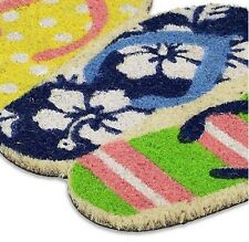Flip Flop Shaped Home Decor Door Welcome Beach Outdoor Sandal Mat Multicolor Rug