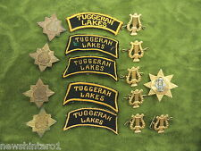 #D147.  LOT OF TUGGERAH LAKES BAND METAL BADGES & CLOTH PATCHES