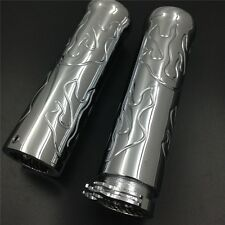 Billet Flame style 7/8'' HAND GRIPS Fit for Honda Shadow 750 Spirit Aero ACE Chr