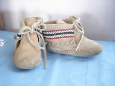 Baby Moccasin Suade Leather children childs shoes vintage native american