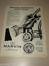 *65=MARVIN OROLOGIO WATCH=1958=PUBBLICITA'=ADVERTISING=PUBLICIDAD=WERBUNG=