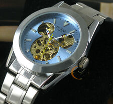 MENS BLUE Face TOP DISNEY MICKEY AUTO AUTOMATIC SELF-WINDING MECHANICAL WATCH