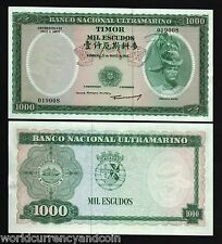 TIMOR 1000 ESCUDOS P30 1968 UNC PORTUGUESE ADMINSTRATION RARE PORTUGAL BANKNOTE