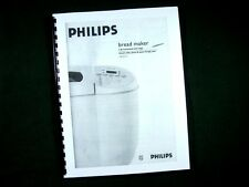Philips Model HL5231 Bread Maker Machine Instruction Manual & Recipes