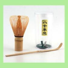 BAMBOO 1 SET CHASEN WHISK & CHASHAKU SCOOP MATCHA GREEN TEA CEREMONY