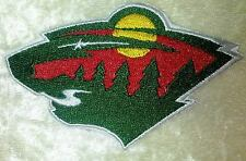 "Minnesota Wild NHL Logo 4"" Iron On Embroidered Patch ~USA Seller~"