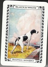 Playing Swap Cards  GENUINE 1 only single WIDE BLACK & WHITE WHISKY DOG