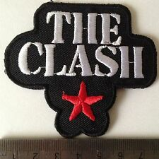 iron on sew on embroidered music patches badges the clash patch badge