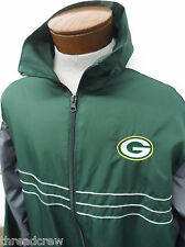 GREEN BAY PACKERS NFL FOOTBALL WIND JACKET sz XL Sports Illustrated mens #1554
