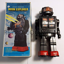 Vintage Tin Toys - MOON EXPLORER Hong Kong 1970 - 1980 Con scatola - With Box