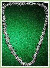 Chain Maille and Cube Bead Necklace