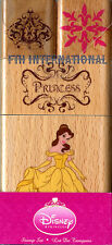 Princess Belle ~ 4 piece Disney Wood Mount Rubber Stamp Set #48773 Crown Flowers