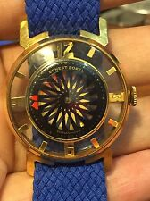 VINTAGE ERNEST BOREL KALEIDOSCOPE MEN WATCH=RUNS