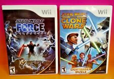 Star Wars Force Unleashed, Clone Wars Duels, Nintendo Wii 2 Games -Complete Fun