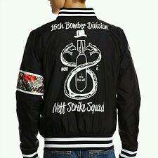 Neff Snake Life Bomber Lightweight Jacket Strike Back Squad Logo Sz S NWT