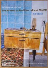 GERMAN EXHIBITION POSTER 2007 - INA WEBER - FROM BAUHAUS TO  REAL LIDL minimal