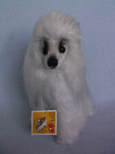 "Cute 9"" Tall Vintage Kamar 1968 Monique White Poodle Original Hang Tag – Japan"