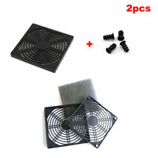 2x Dustproof 80/120mm Case Fan Dust Filter for Computer PC w/screws
