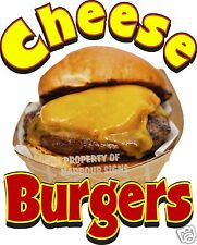 "Cheese Burgers Decal 14"" Cheeseburgers Restaurant Concession Food Truck Vinyl"