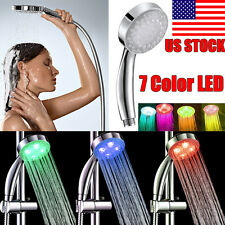 New Handheld Romantic Automatic 7 Color LED Lights Handing Bathroom Shower Head