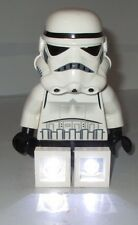 "Star Wars Lego Storm Trooper Stormtrooper 8"" Tall Flash Light Torch Great Used"