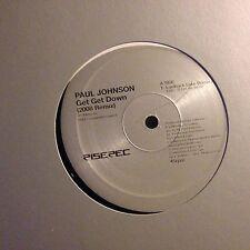 PAUL JOHNSON • Get Get Down • Vinile 12 Mix • 2008 RISE 414bis