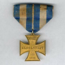 GERMANY, Schwarzburg-Rudolstadt. Veterans Association Cross, 1894