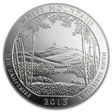 2013 5 oz Silver ATB White Mountain National Park, NH - America the Beautiful