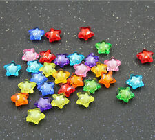 100pc Mixed Colors Star Acrylic Beads 12mm Craft/Kids Embellish Jewelry Mak