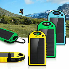 Portable Waterproof 12000mAh Solar Charger Dual USB External Battery Power Bank